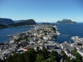 Aerial view of Alesund