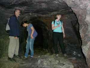Germans WW2 tunnels hewn out of solid rock.