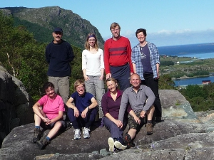 On one of our walks ashore high above the  fjord.