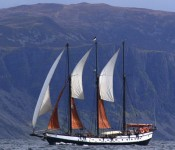 Schooner Trinovante in Norway