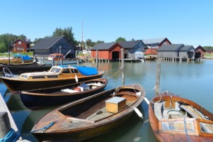Small boats in the Aaland islands.