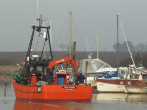 The Wash Pilgrim leaves St Osyth Boatyard.