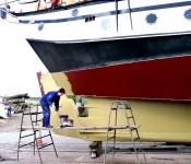 Getting Trinovante ready for sailing holidays