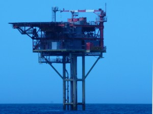 One of the many oil and gas rigs we saw far out in the North Sea