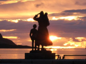 The fishermans wife statue, Fosnavag, Norway.