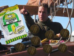 Mats eating Dundersalts on a SchoonerSail Sailing Holidays