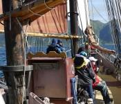 Under sail in Norway aboard the schooner Trinovante.