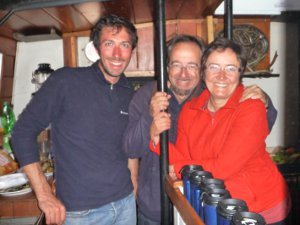 Team Italia take over the galley on their sailing holiday