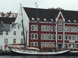 Our schooner alongside in Stavanger just after the Tall Ships Race.
