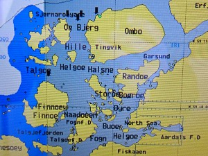 Norway on the chart plotter, an ideal place for a sailing holiday.