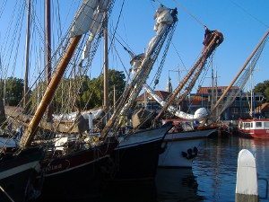 Traditional sailing boats in the Netherlands.