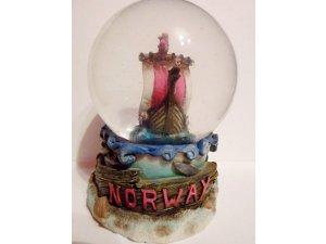 The Norway Viking  Sailing Ship snowdome