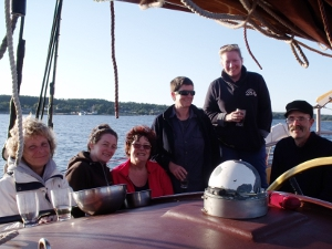 Schooner Trinovante - the crew