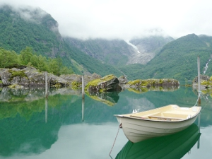 A glacial lake in Norway at Sundal.