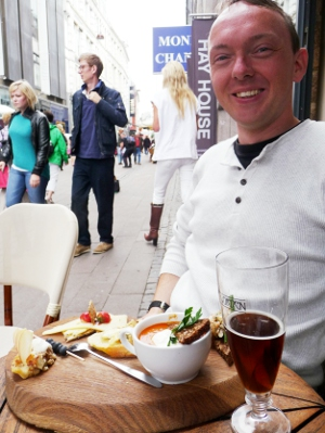 Danish cheese platter