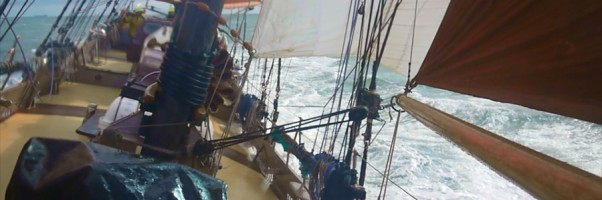 Offshore sailing on the schooner Trinovante.