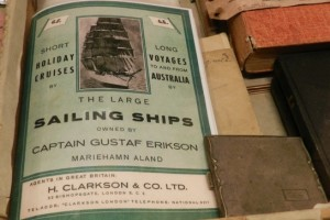 Gustaf Erikson pamphlet advertising sailing ship holidays and cruises.