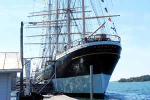 Tall Ship Pommern alongside Mariehamn, Aaland Islands.